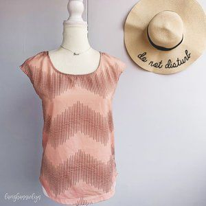 Foreign Exchange Pink Chevron Blouse Small